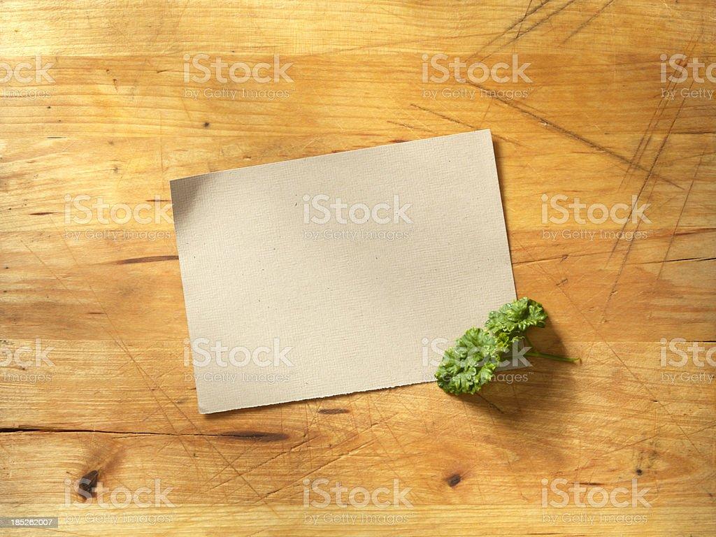 Recipe Card stock photo