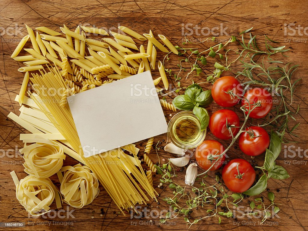 Recipe Card with Ingredients royalty-free stock photo