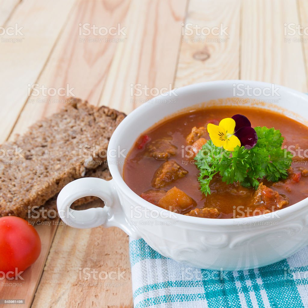 recipe for goulash stock photo