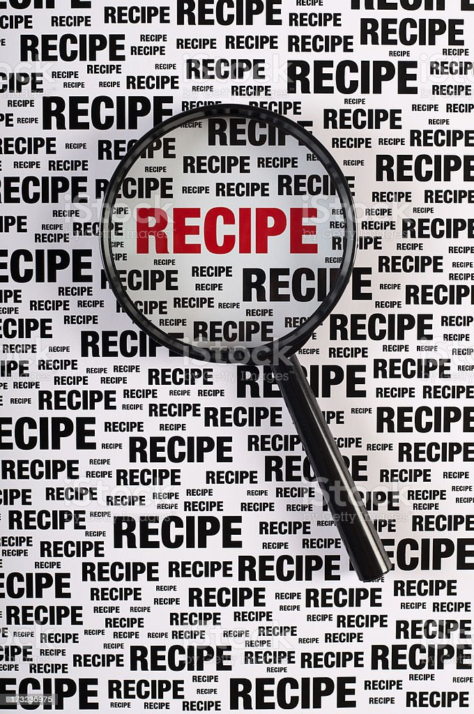 recipe royalty-free stock photo