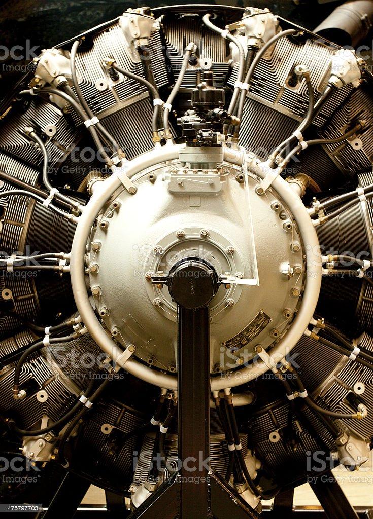 Reciprocating Aircraft Engine stock photo