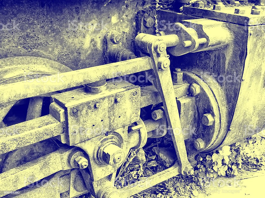 Reciprocating steam engine stock photo