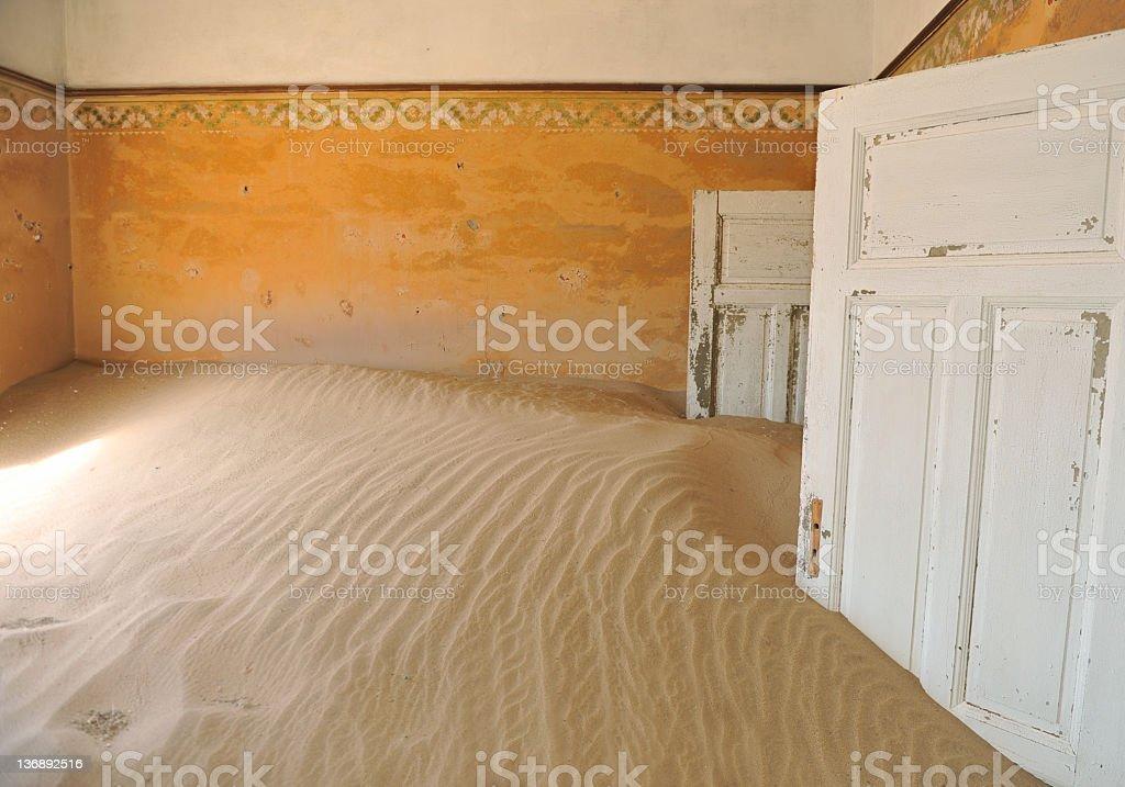 Reclaimed by the desert stock photo