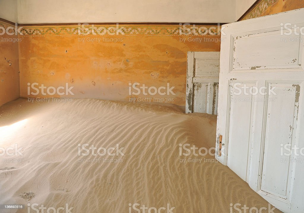 Reclaimed by the desert stock photo