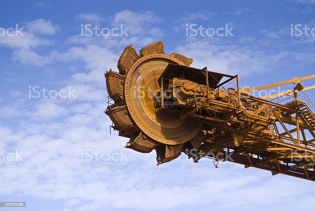 Reclaimer on Iron Ore Mine Site stock photo