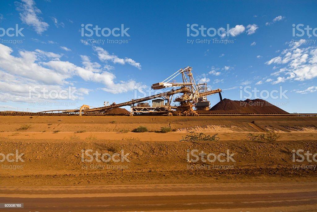 Reclaimer Stacker on Iron Ore Mine Site stock photo