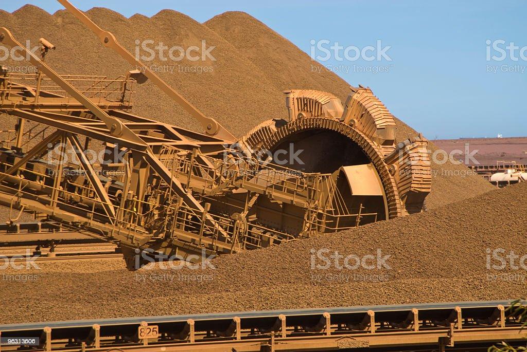 Reclaimer Stockpile on Iron Ore Mine Site stock photo