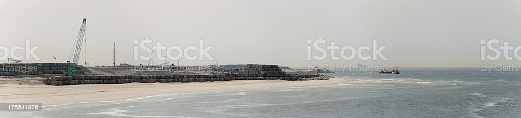 Reclaming land from the sea maasvlakte2 stock photo