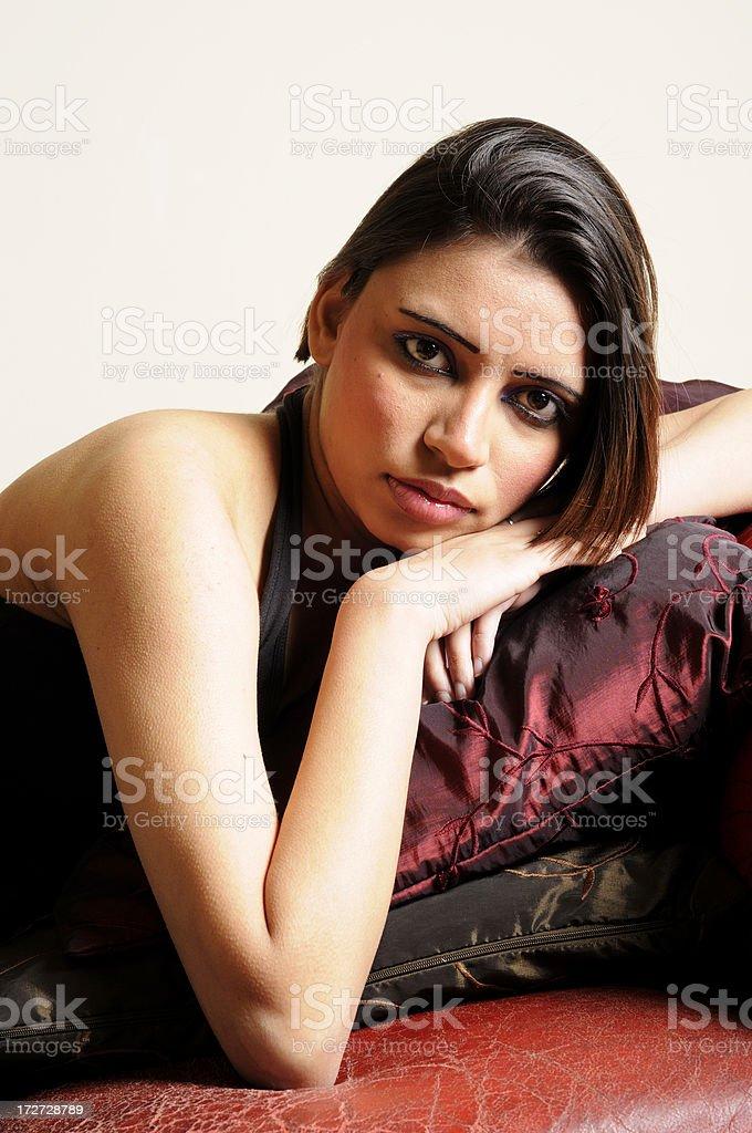 Reclining Asian Beauty stock photo