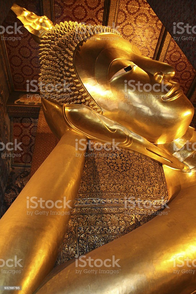 Reclining Buddha in Wat Pho royalty-free stock photo
