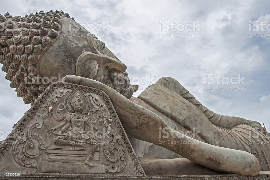 Reclining Buddha, Laos stock photo