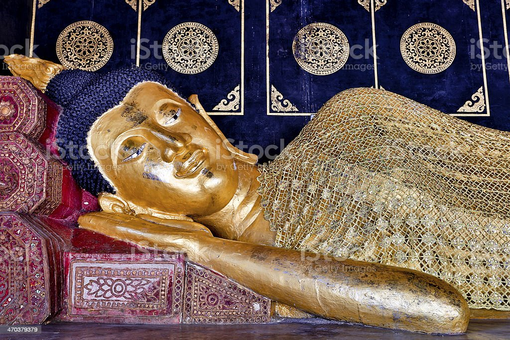 Reclining Buddha royalty-free stock photo