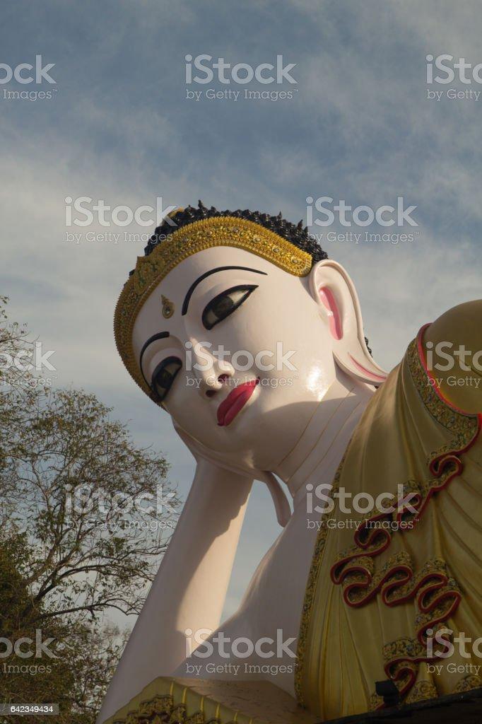 reclining Buddha. Temple of Buddha in Thailand stock photo