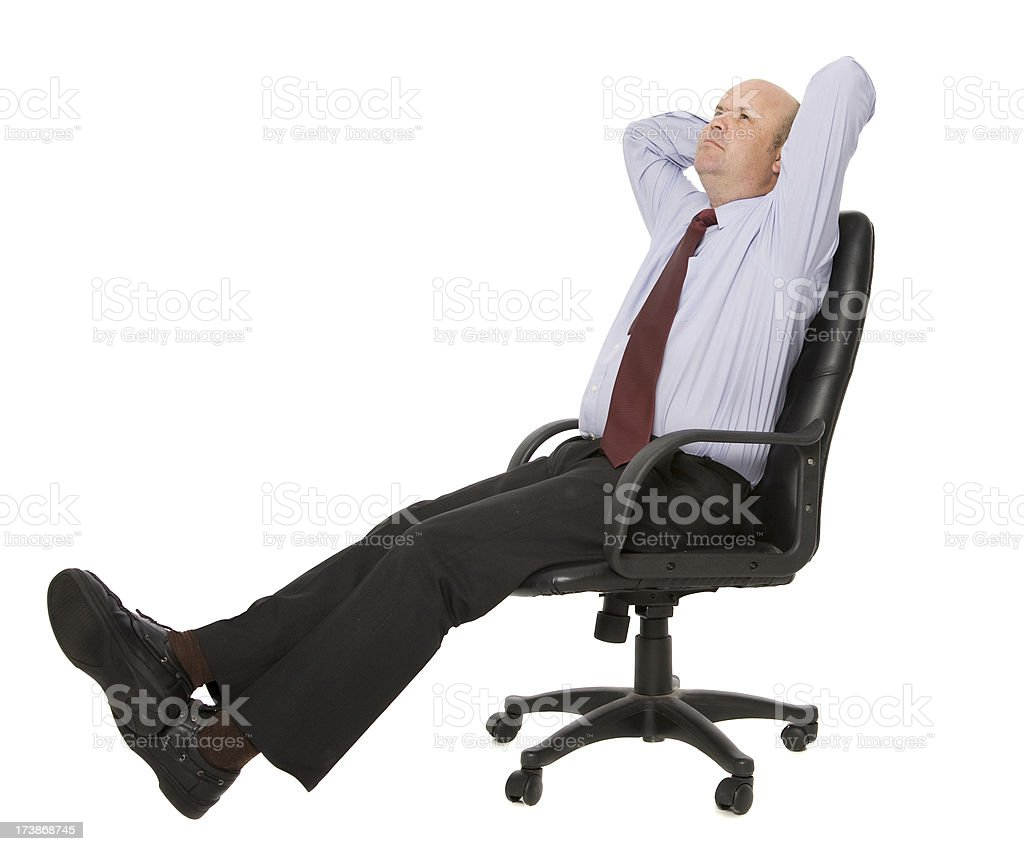 Reclining Business Man royalty-free stock photo