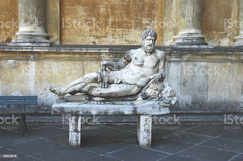 Reclining Statue royalty-free stock photo