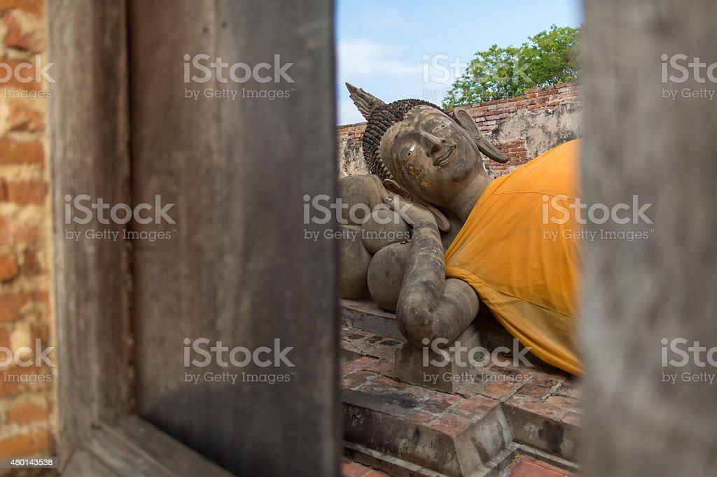 Reclinning Buddha stock photo