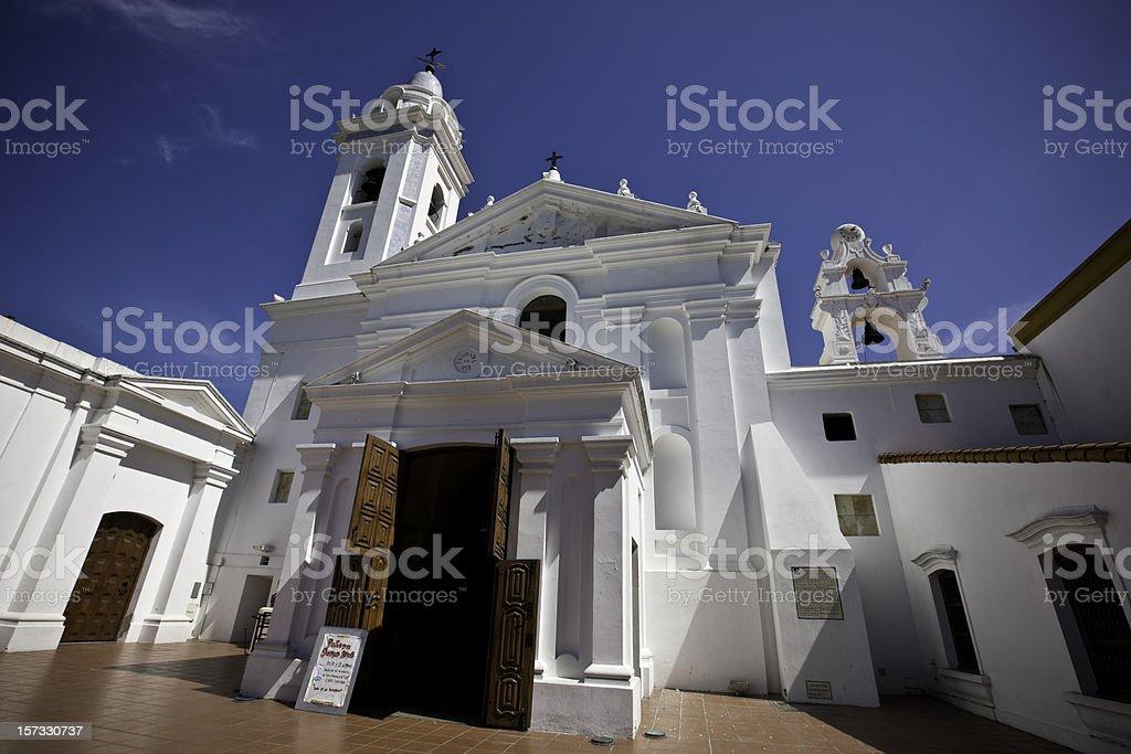 Recoleta Nuestra Senora del Pilar Church in Buenos Aires royalty-free stock photo