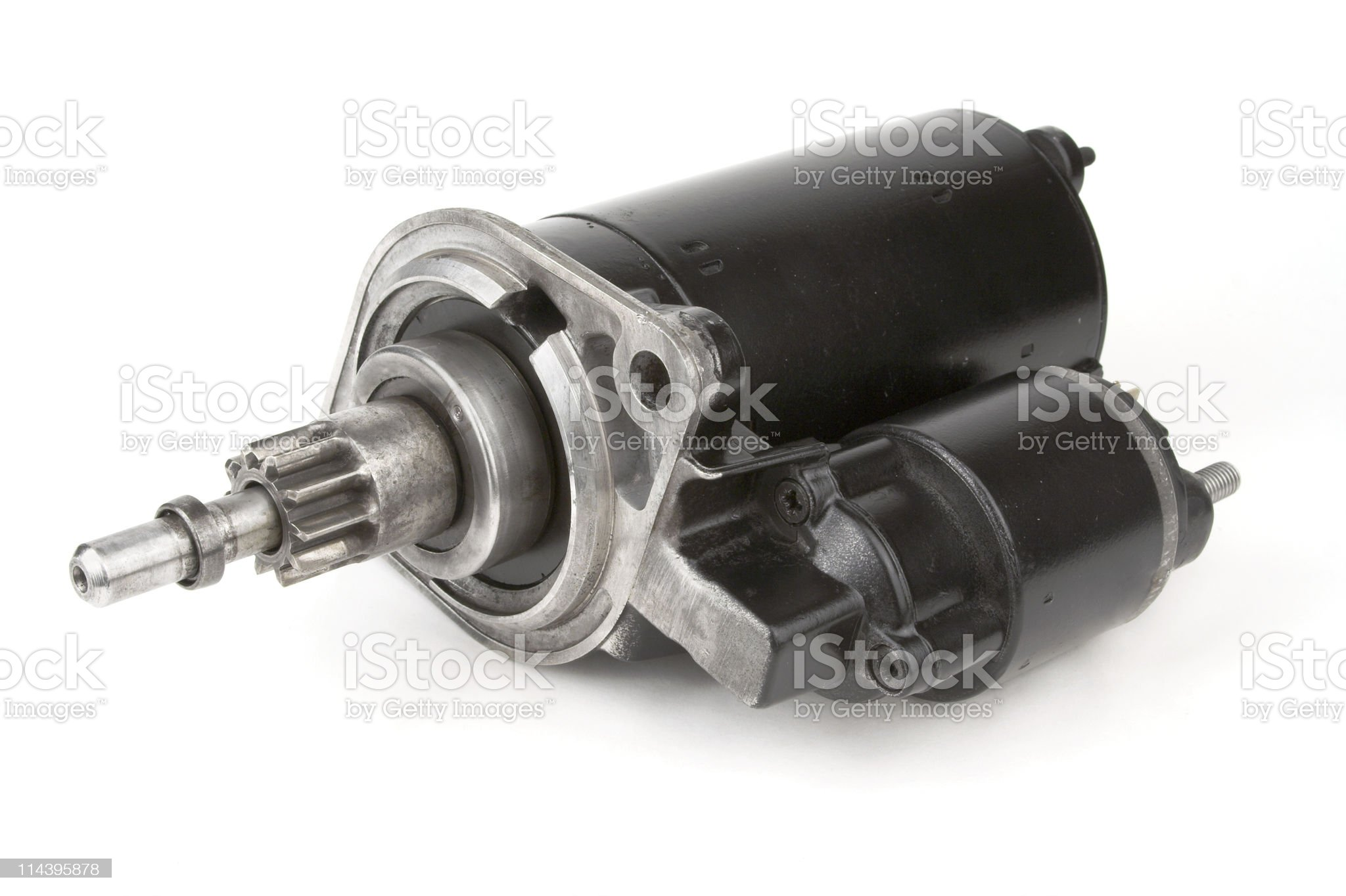 Reconditioned Car Starter Motor Front View royalty-free stock photo
