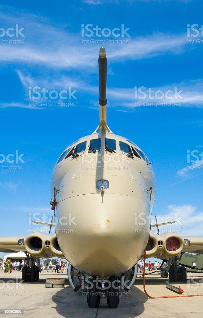 Reconnaissance plane stock photo