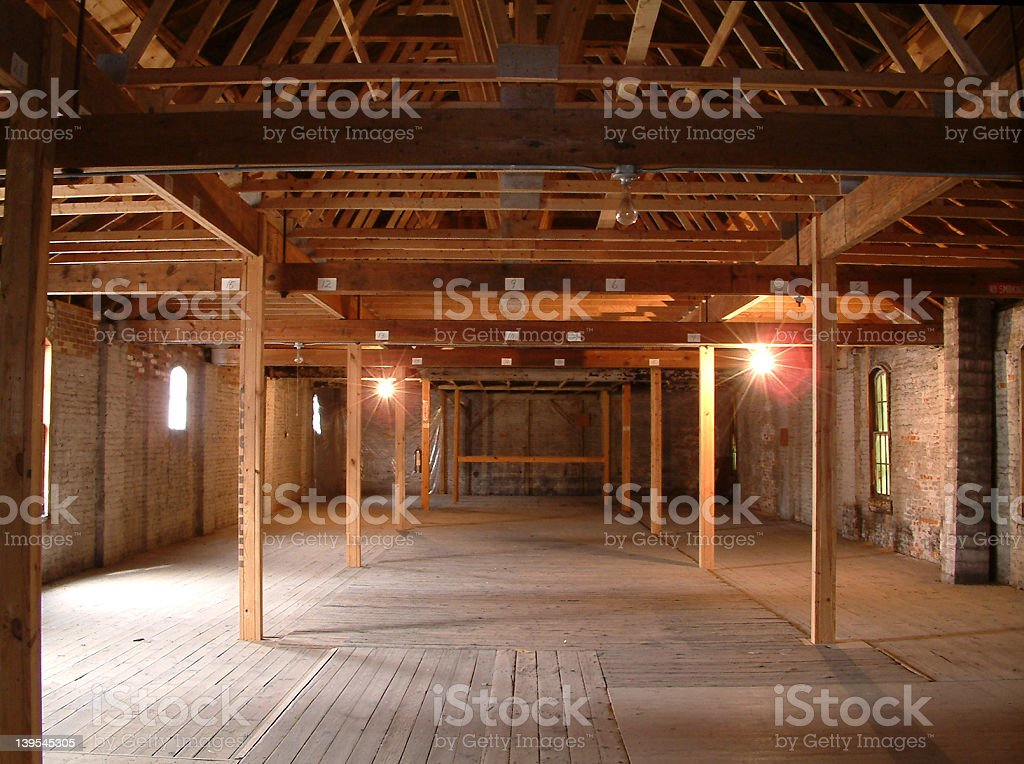 Reconstructed Interior royalty-free stock photo