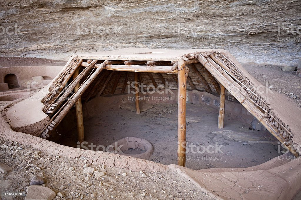 Reconstructed Pithouse - Mesa Verde National Park, Colorado royalty-free stock photo