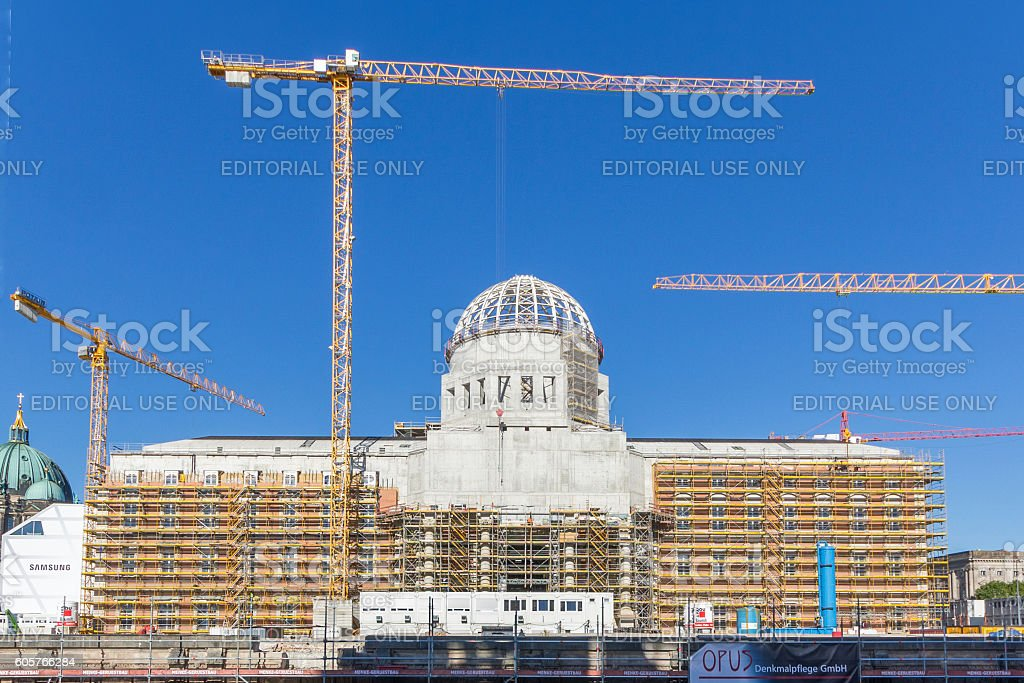 reconstruction  Berlin Palace - front stock photo
