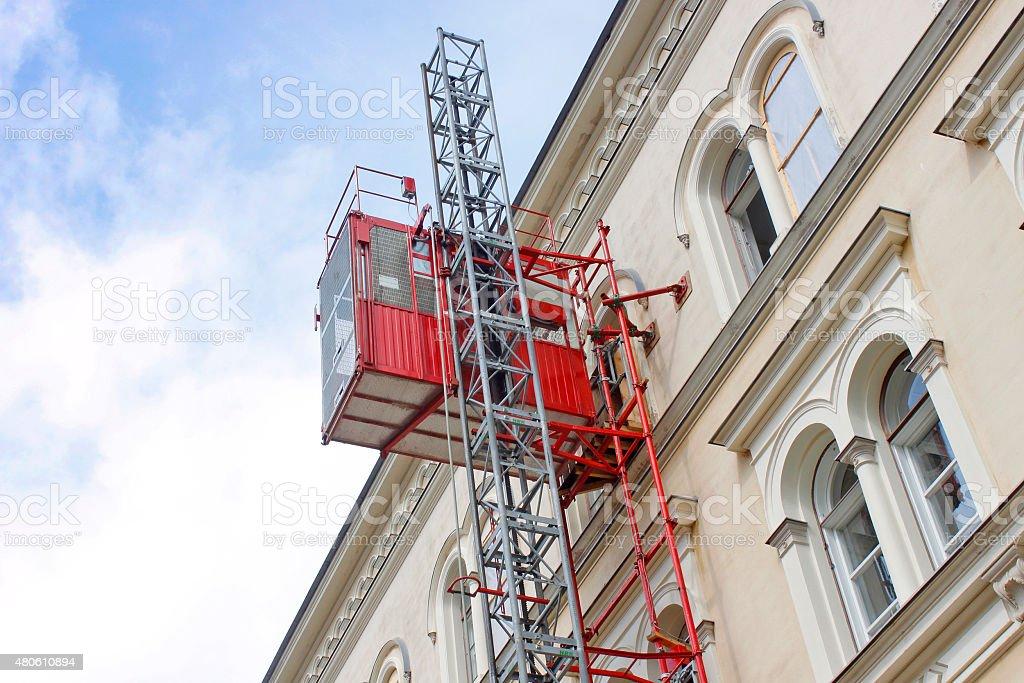 Reconstruction elevator stock photo