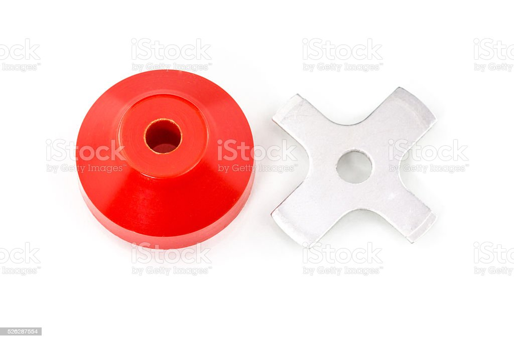 45RPM record adapter stock photo