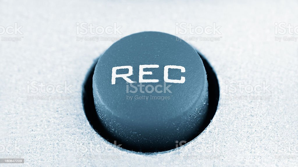 Record button stock photo