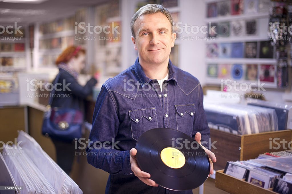 record collector royalty-free stock photo