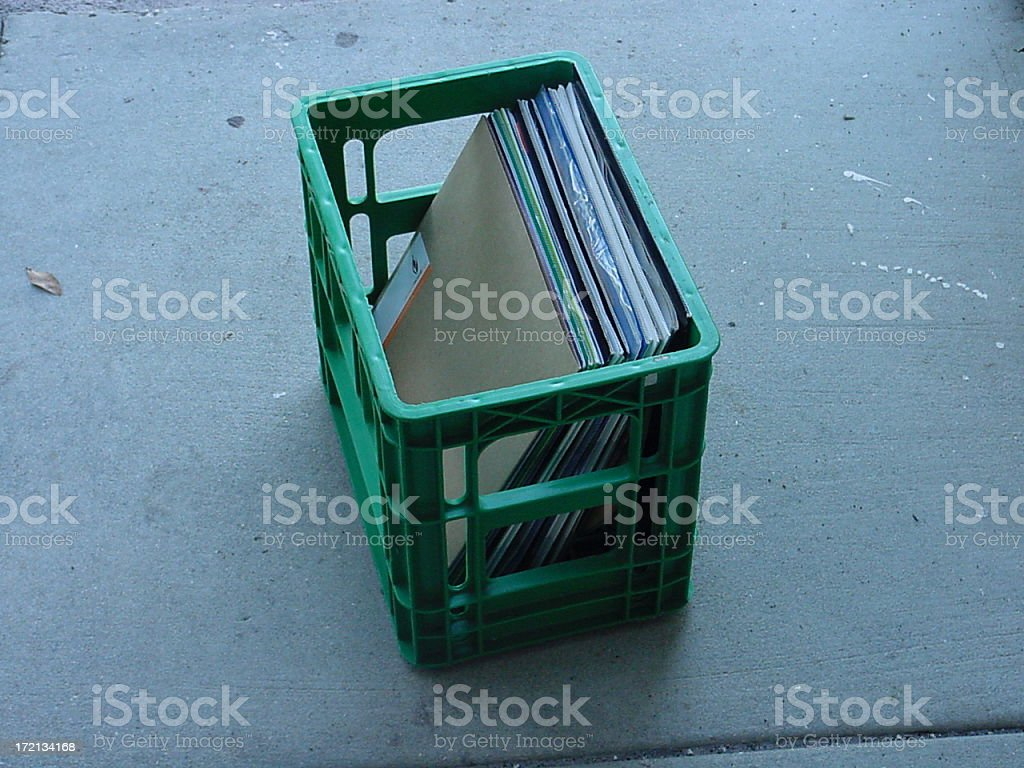 record crate royalty-free stock photo