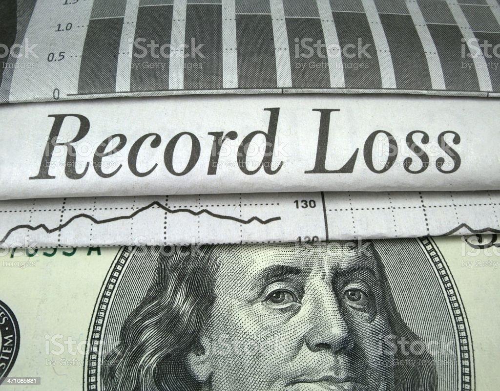 Record Loss royalty-free stock photo