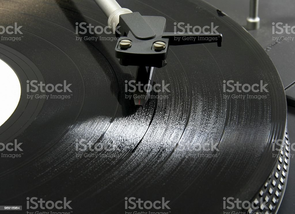 Record on a turntable royalty-free stock photo