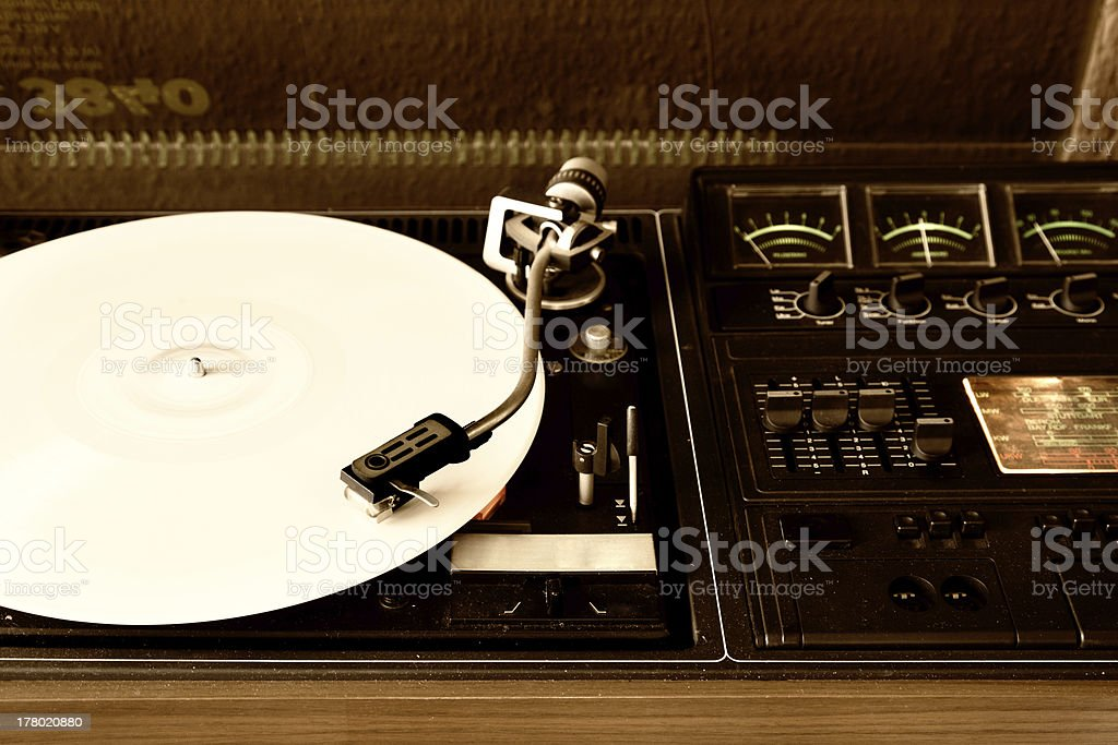 record player stock photo