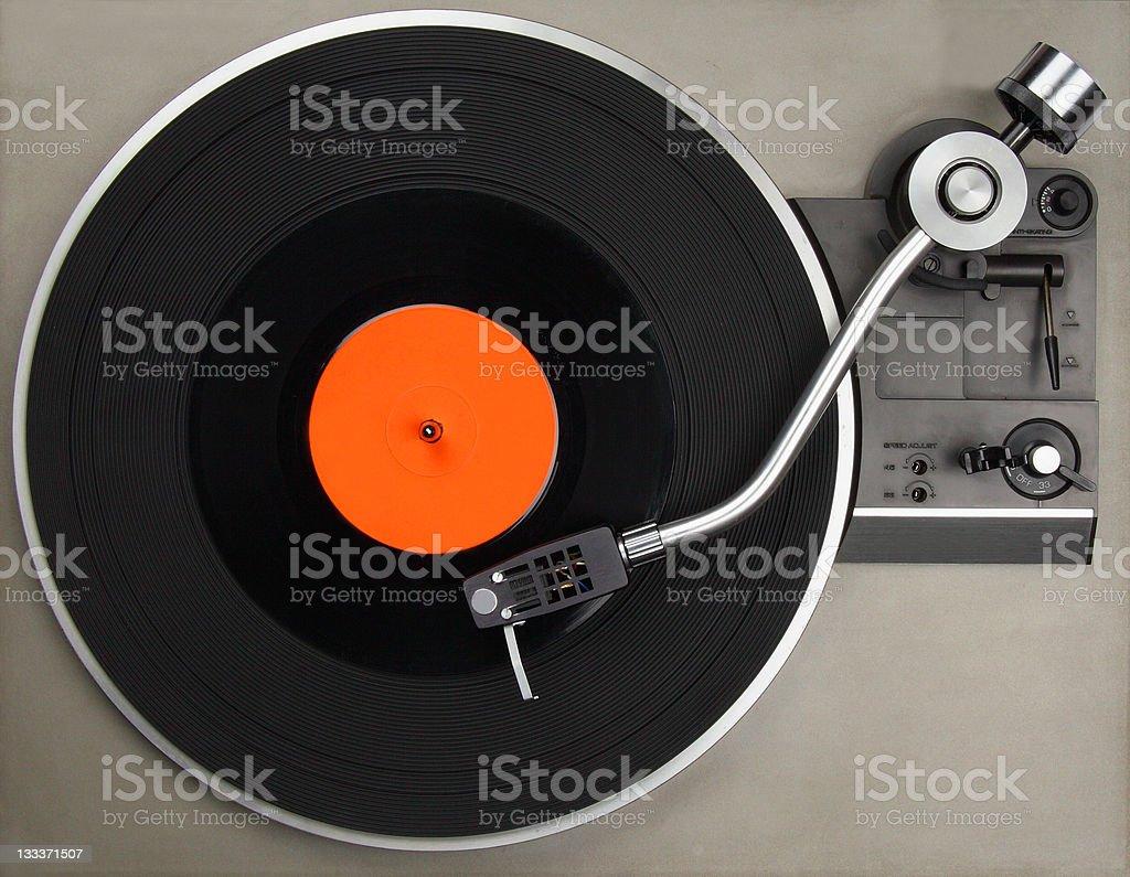 Record player with vinyl stock photo