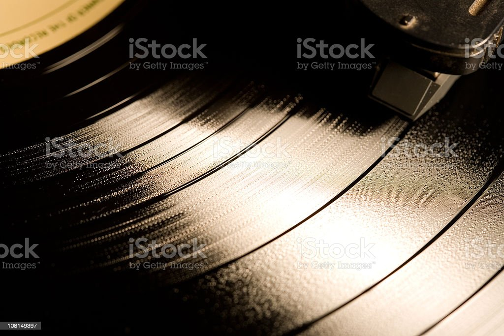 Record playing royalty-free stock photo