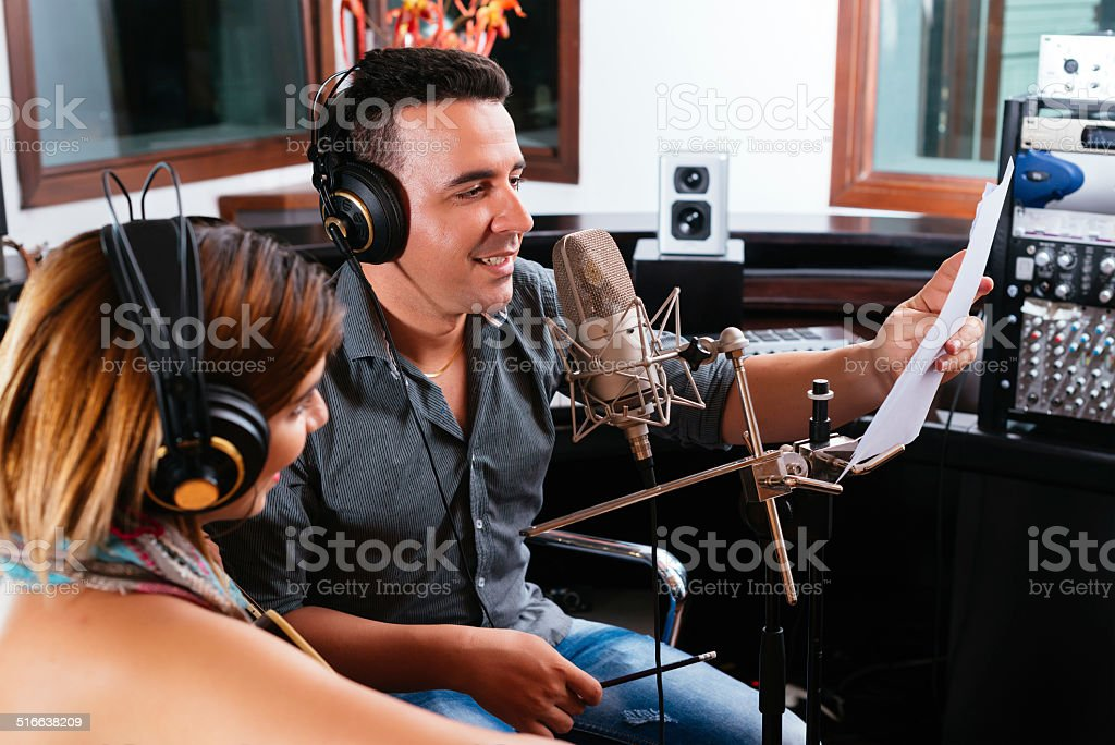 Record producer stock photo