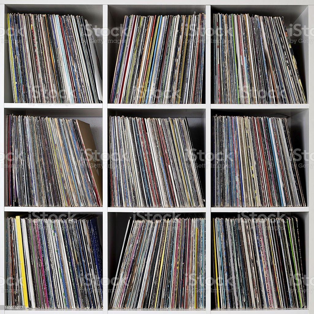 Record rack royalty-free stock photo