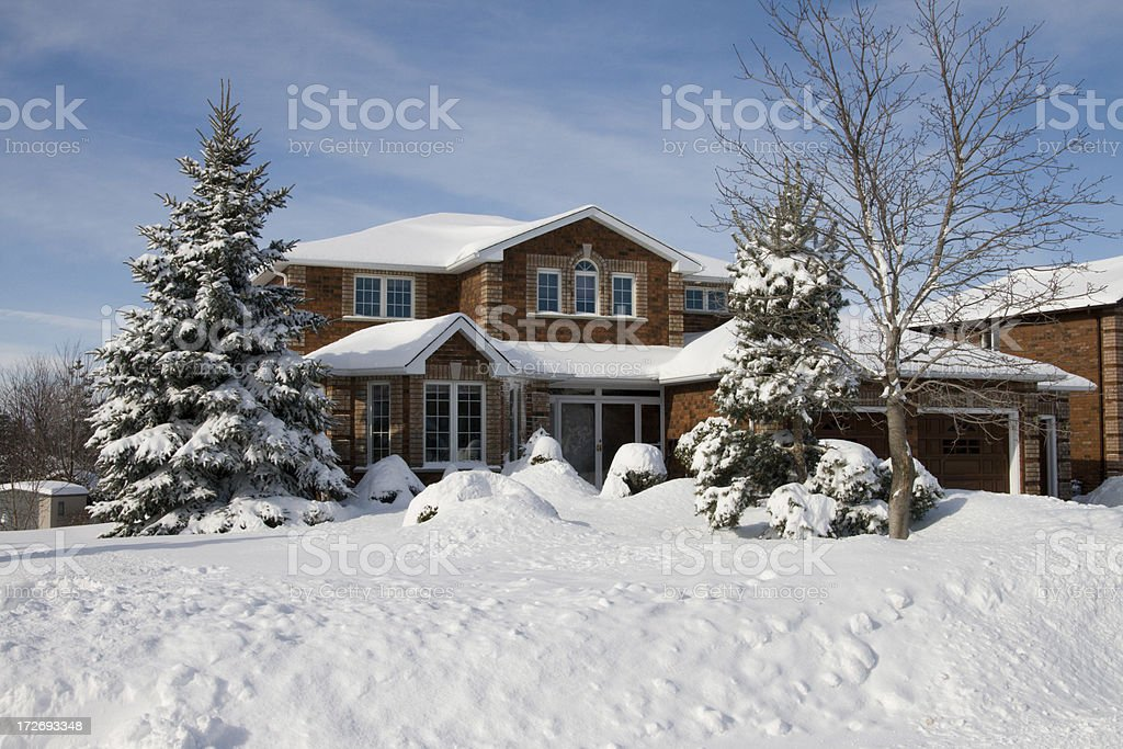 Record snow fall stock photo