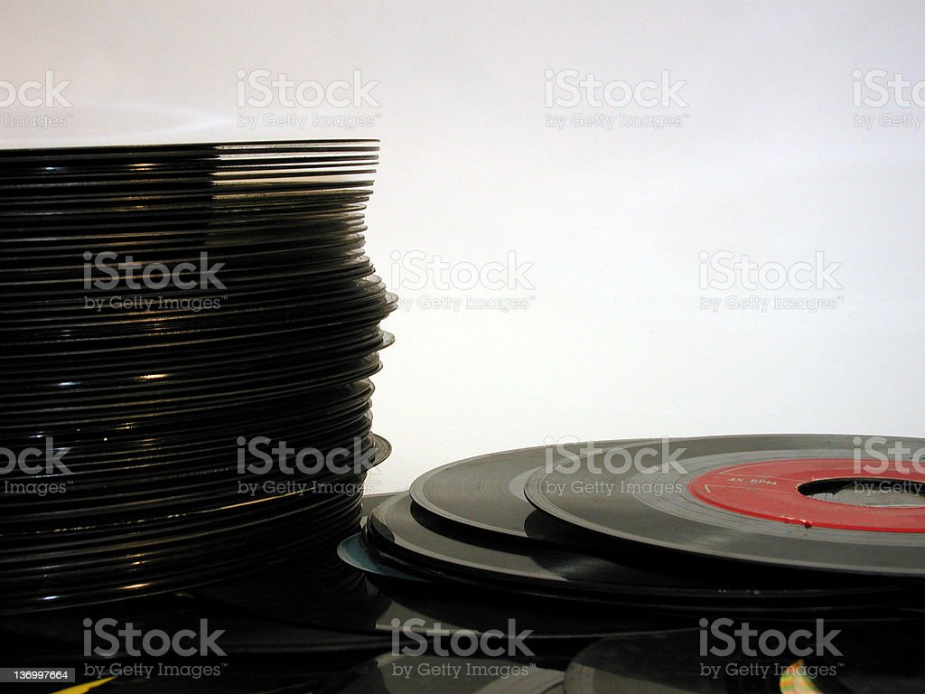 record stack royalty-free stock photo