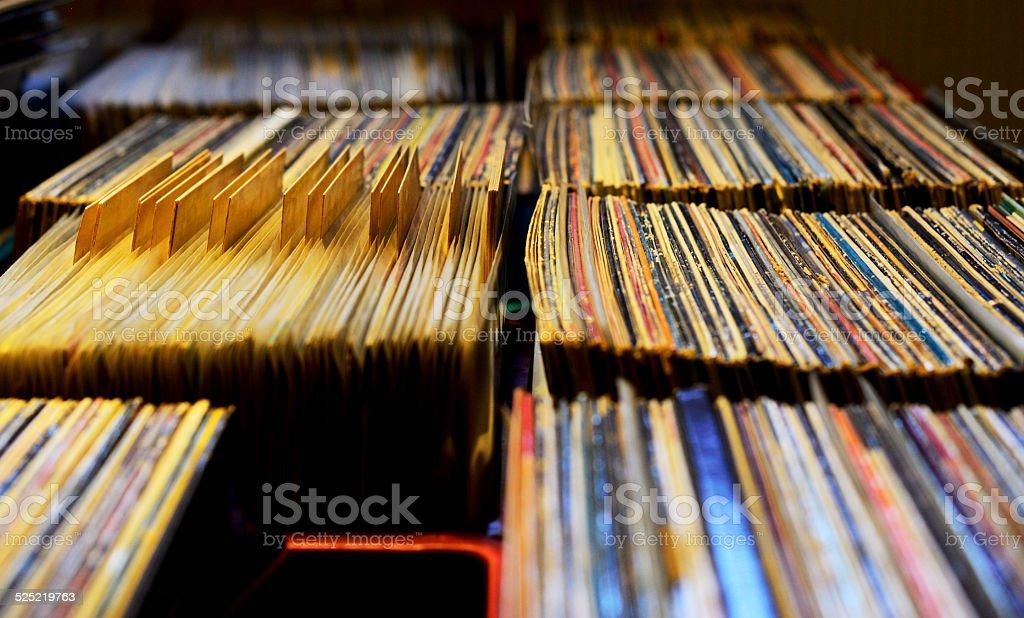 Record Store stock photo