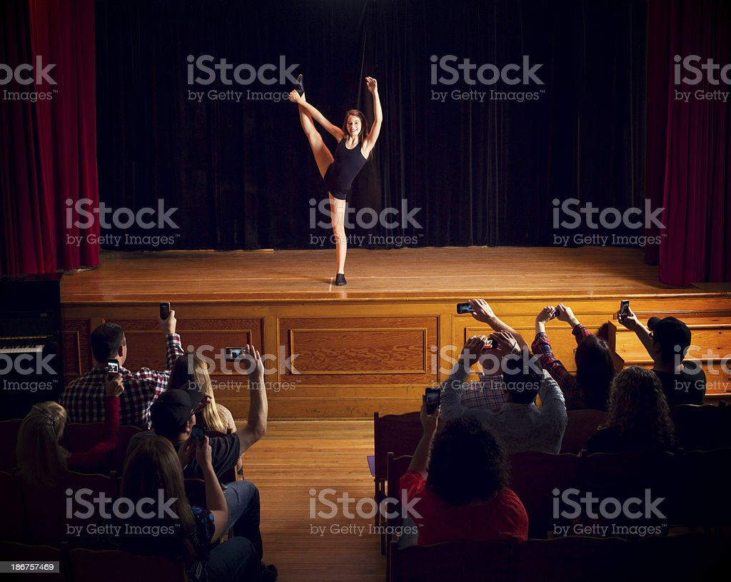 Recording a dance recital. royalty-free stock photo