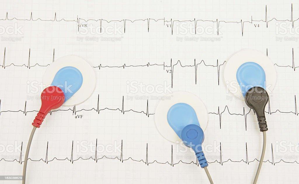 Recording a Heartbeat stock photo