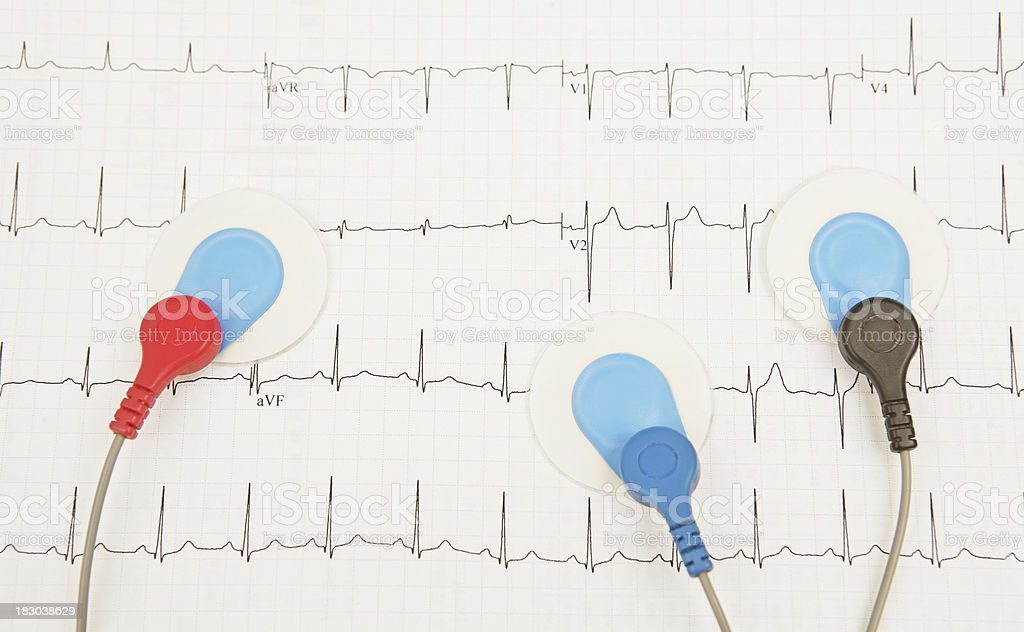 Recording a Heartbeat stock photo