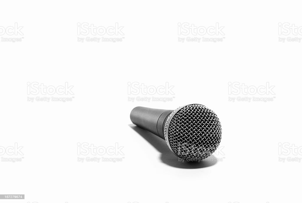 Recording Microphone on White Background stock photo