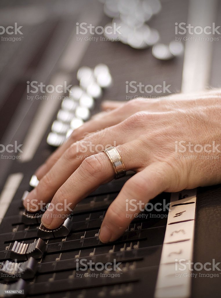 Recording Mixdown royalty-free stock photo