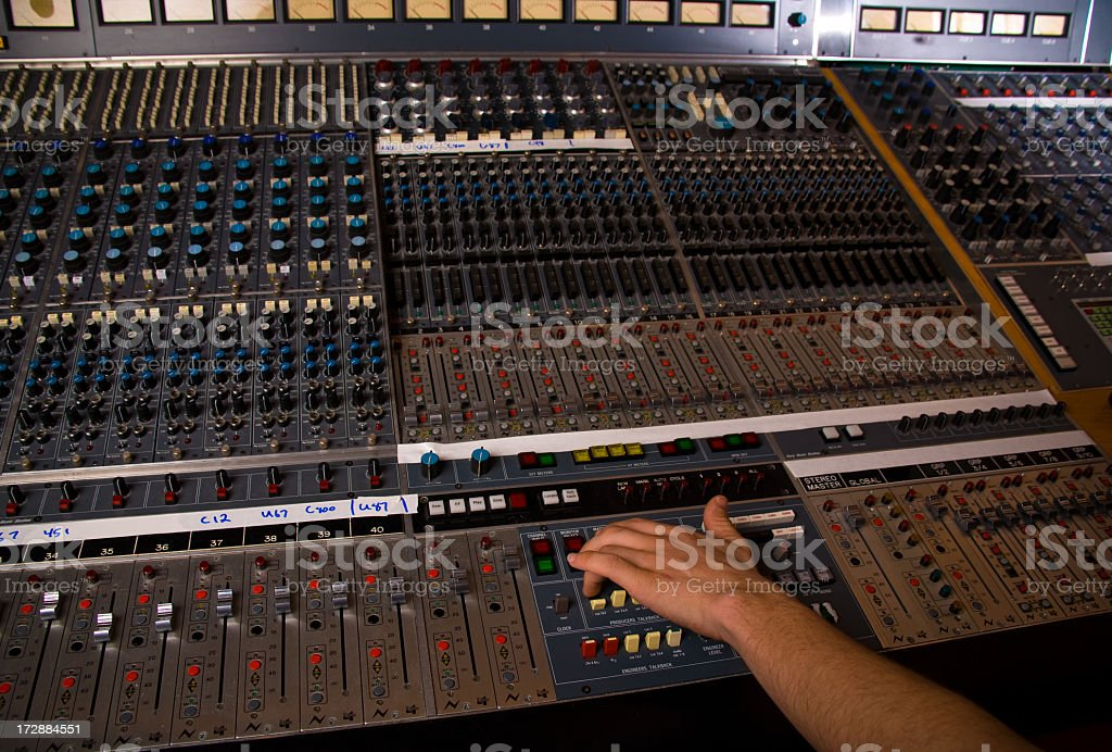 Recording royalty-free stock photo
