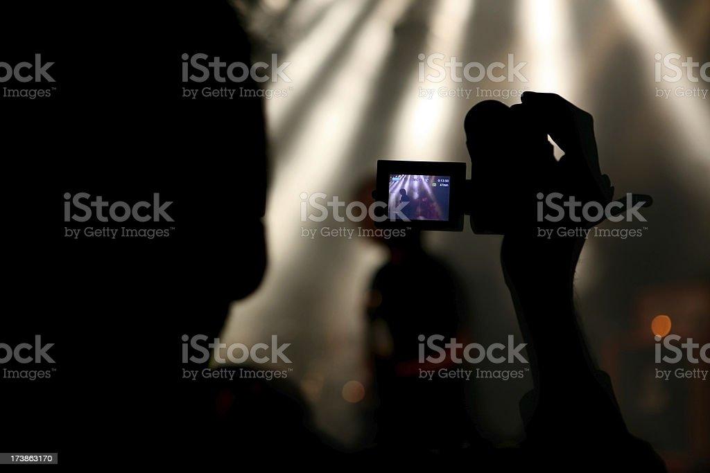 Recording royalty-free stock photo