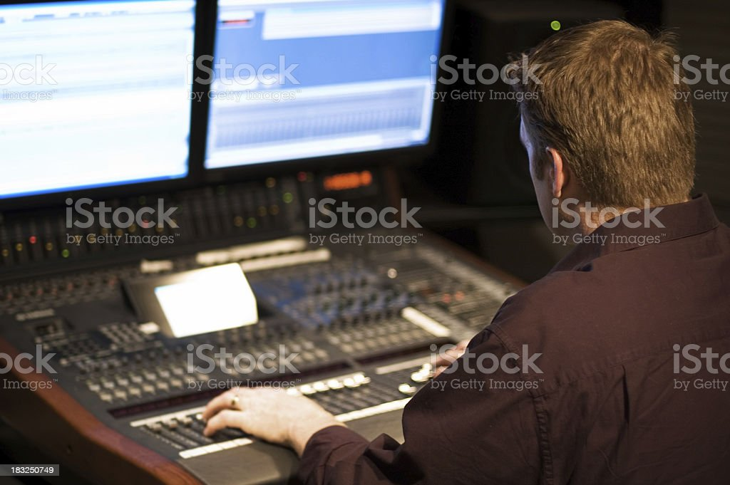 Recording Producer royalty-free stock photo
