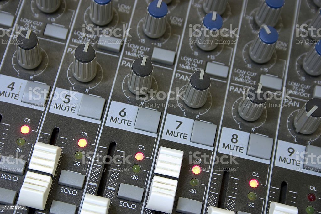 Recording Session 01 royalty-free stock photo
